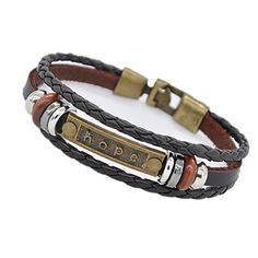 Hope Bracelet - Coolla Jewelry Men Bracelet Women Bracelet Vintage Leather Wrist Band Bracelet for Boys Sl3378 (Brown) COOLLA http://www.amazon.com/dp/B01AJLTYHE/ref=cm_sw_r_pi_dp_zf8Lwb1YVWZ0G