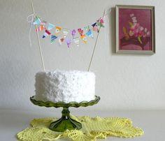 Cake bunting.
