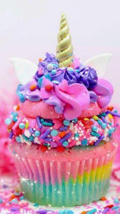 Rainbow Food, Rainbow Sprinkles, Mini Cakes, Cupcake Cakes, Cupcake Frosting, Unicorn Cupcakes Cake, Unicorn Cakes, Cupcake Recipes, Comida Disney World