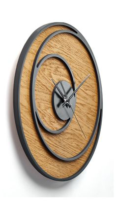 Wooden Wall Bedroom, Wall Clock Wooden, Metal Clock, Wood Clocks, Wooden Walls, Bedroom Decor, Wall Wood, Wooden Decor, Big Wall Clocks