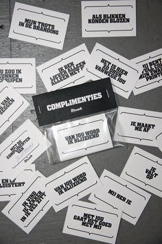 complimentjes-kaartjes! :-) Love Gifts, Diy Gifts, Fun Worksheets, Quotes And Notes, Happy People, Cool Cards, Kids Education, Little Gifts, Party Gifts