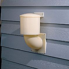 Dryer Vent (locks out outside air and pests...especially REALLY big spiders...eeekkkk)
