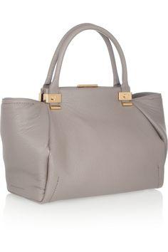 Lanvin|Trilogy leather shopper|NET-A-PORTER.COM