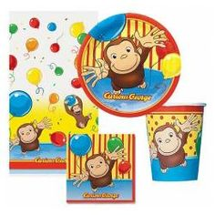 Curious George Party Pack for 8$9.99