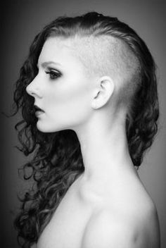 Image result for curly side cut