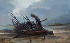 Marsala shipwreck, Pawel Kaczmarczyk on ArtStation at https://www.artstation.com/artwork/lnqEY