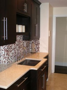 CONTEMPORARY KITCHEN SINK AND CABINETS