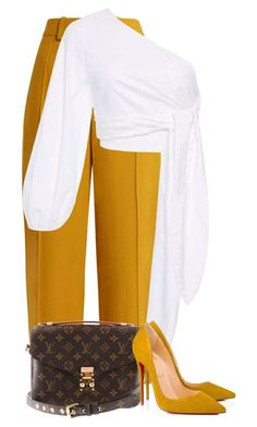 featuring Chloé, Mara Hoffman, Louis Vuitton and Christian Louboutin Curvy Girl Fashion, Work Fashion, Fashion Pants, Fashion Looks, Fashion Outfits, Womens Fashion, Fashion Clothes, Business Fashion, Classy Outfits