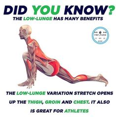 Low lunge benefits.....