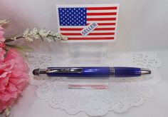"""FREE SHIPPING - $10.55 - 3 in 1 NEW STYLE >>>Corolla Lighted Tip Blue Stylus Pen by Adler - HIGH QUALITY by eBay seller ShoppingSpree4Me. =========================  FIND US ON LINE:   1) Go to eBay.com 2) Next to the blue search button click on the word """"Advance""""  3) On the Item Menu (left side) click on """"Find Store""""  4) Enter the Store Name """"ShoppingSpree4Me""""  5) Click search  6) This will bring up our current items listed on eBay."""