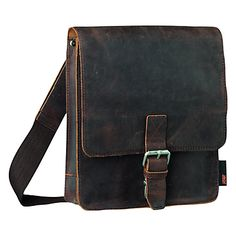 Buy Jost Vintage Leather Reporter Bag, Brown online at JohnLewis.com - John Lewis Diy Messenger Bag, Vintage Leather, John Lewis, Cool Outfits, Satchel, Sew, Brown, Gifts, Bags