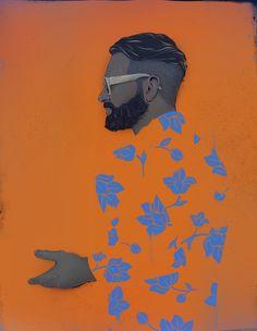 flower print shirts man - 그래픽디자인, 패션디자인, 일러스트