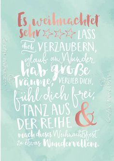 Schön Schön The post Schön appeared first on Fashion and Recipes. Diy Christmas Cards, Christmas Quotes, Xmas Cards, Christmas Feeling, Little Christmas, Christmas Time, New Year Text, Happy Paintings, Presents For Friends