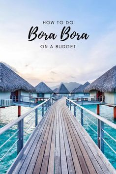 Learn how you can travel Bora Bora on a budget and how overwater bungalows are possible for cheap plus tips on keeping Bora Bora trip costs low. Places To Travel, Travel Destinations, Places To Visit, Romantic Vacations, Dream Vacations, Romantic Travel, Dream Vacation Spots, Vacation Places, Vacation Trips