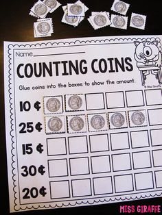 Awesome adding like coins worksheets and activities to help students skip count with money