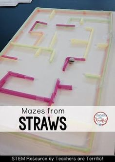 STEM Challenges: Straws are such a great material to use for your STEM projects. They are easy to use, come in many colors and sizes, and they are inexpensive! Here's a maze made of straws!