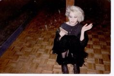 Bleach blond retro vintage goth post punk