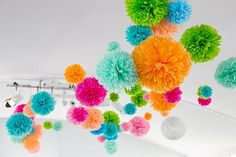 Paper pom packs mixed sizes