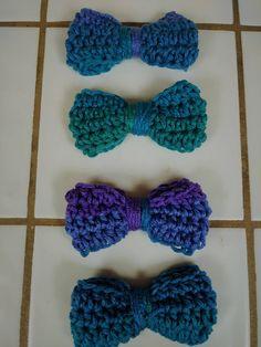 Bows Crochet Bow Applique Craft Bows Yarn Bows Craft