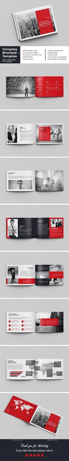 Company Brochure Template - Envato #BestDesignResources