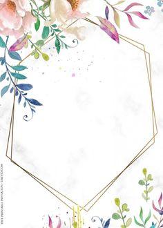 ( 70+ FREE PRINTABLES ) - Vintage Floral Watercolor Invitation Templates | DREVIO Unicorn Birthday Invitations, Free Printable Birthday Invitations, Baby Shower Invitation Templates, Disney Invitations, Watercolor Invitations, Floral Invitation, Templates Printable Free, Free Printables, Birthday Template