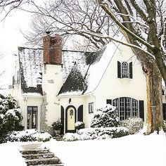 #mycottageinstincts#cottages#snow#cinderella One of our favorite homes. Cinderella could live here! Lake Harriet Minneapolis.