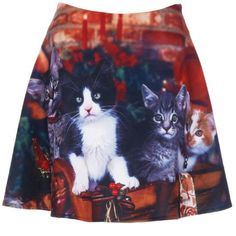 This 'Romwe' Skirt Shows Furry Festive Friends Having Fun trendhunter.com