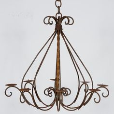 Wrought Iron Braided Chandelier  http://www.arusticgarden.com/wrirbrch1.html