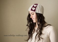Sweetish Subtlety free crochet Hat Pattern.  I love the hearts.