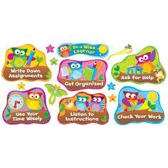 Owl-Stars!® Study Habits Bulletin Board Set, T-8361