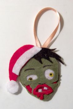 Yikes! Christmas zombie ornament ~Craftster.org