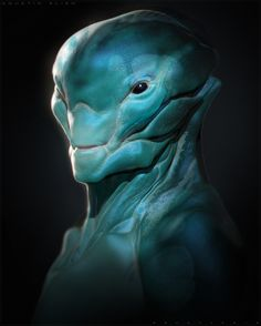 There are underwater Alien species that have been filmed in USOs (Unidentified Submerged Objects) around the world. Alien Concept Art, Creature Concept Art, Creature Design, Humanoid Creatures, Alien Creatures, Fantasy Creatures, Alien Character, Alien Design, Alien Races