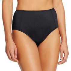 Women's High Waist Bikini Bottom - S - Cleanwater, Size: Small, Black