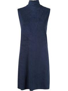 robe droite à col roulé