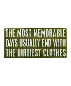 'Most Memorable Days' Box Sign | Daily deals for moms, babies and kids