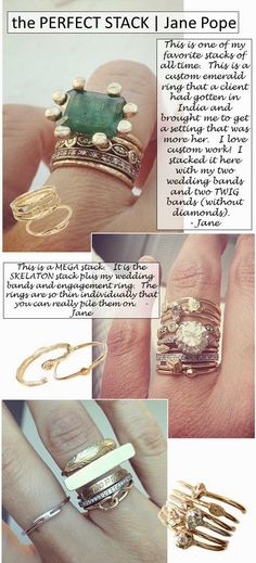 The Perfect Stack | Jane Pope www.janepopejewelry.com