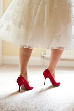Red shoes running!