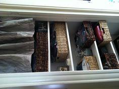 open linen closet idea
