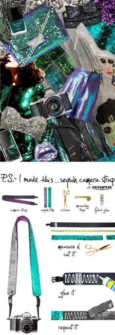P.S.- I made this...Sequin Camera Strap with @GetOlympus #psimadethis #diy #inspiration