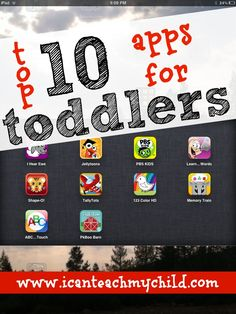 Top 10 Apps for Toddlers. This world can be overwhelming and hard to get good recs and this person seems to have my same philosophy about this phenom so I will probably give some of these a shot.
