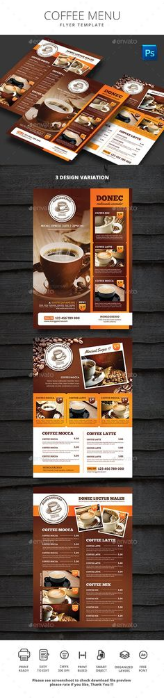 Coffee Flyer Template Flyer template, Template and Restaurants - coffee shop brochure template