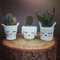 Macetas de crochet