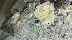 Shabby chic faux wicker altered box with steampunk flare by Lele Lineca  on you tube.