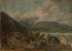 Joseph Mallord William Turner 'A View in the Lake District: ?Coniston Water', 1797–8 Tate, London