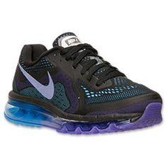 Women's Nike Air Max 2014 Running Shoes  Finish Line   Black/Hyper Grape/University Blue