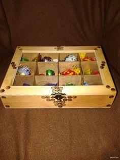 Caixa de bombons mdf e pirografia.