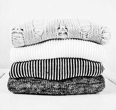 Black, Grey and White Sweaters