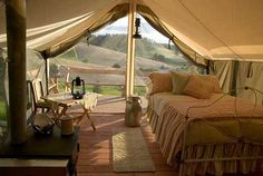 It is a strange sounding word which essentially means the joining of both glamour + camping. The bell tent available from The Glam Camping Company.Glamping is camping for those unwilling to forgo life's little luxuries when roughin. Outdoor Fun, Outdoor Spaces, Outdoor Living, Tent Living, Outdoor Camping, Outdoor Kitchens, Outdoor Events, Camping Glamping, Luxury Camping