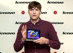 Ashton Kutcher: erster Auftritt nach der Geburt von Baby Wyatt  Ashton Kutcher, Lenovo Livestream