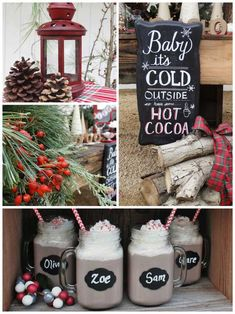 This delightful RUSTIC PLAID HOT COCOA BAR was submitted by Nora Nuno of Sugar & Sparkle.